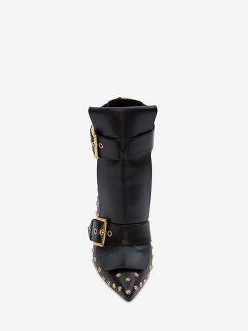 ALEXANDER MCQUEEN Double Buckle Horn Heel Boot DOUBLE BUCKLE HIGH HEEL BOOT Woman e