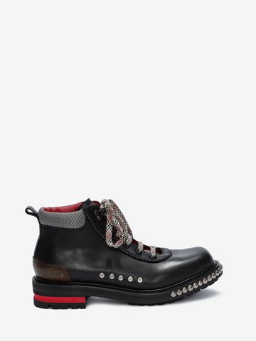 ALEXANDER MCQUEEN Studded Hiking Boot HIKING BOOT Man f