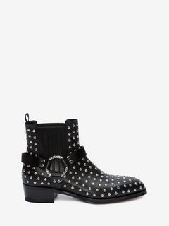 Studded Cuban Heel Boot