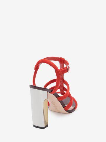 Alexander McQueen Sculpted Heel Sandal JEqwI4pTe