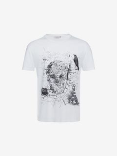 "ALEXANDER MCQUEEN T-shirt U ""London Map"" Organic Jersey T-Shirt f"