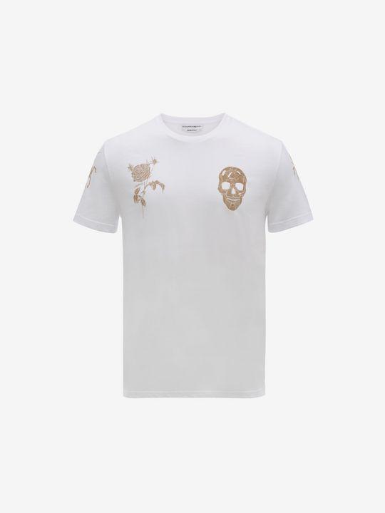 ALEXANDER MCQUEEN Classic Organic Jersey T-Shirt T-shirt U f