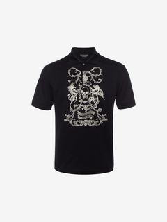 ALEXANDER MCQUEEN Polo Shirt U Embroidered Classic Piqué Polo Shirt f