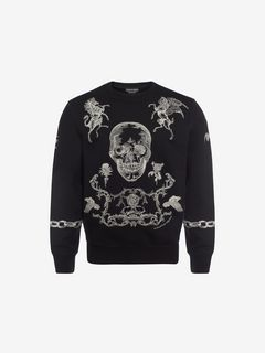 ALEXANDER MCQUEEN Sweat-shirt U Sweat-shirt brodé f