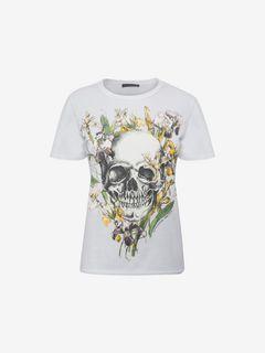 ALEXANDER MCQUEEN Top D Wild Iris Skull T-Shirt f