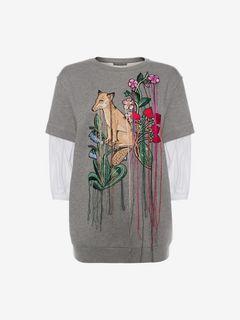 ALEXANDER MCQUEEN Sweat-shirt D Sweat-shirt brodé f