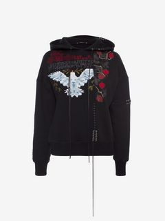 ALEXANDER MCQUEEN Sweatshirt D Embroidered Hooded Sweatshirt f