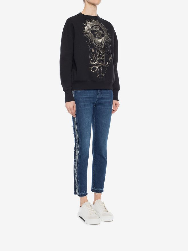 ALEXANDER MCQUEEN Embroidered Sweatshirt Sweatshirt D d