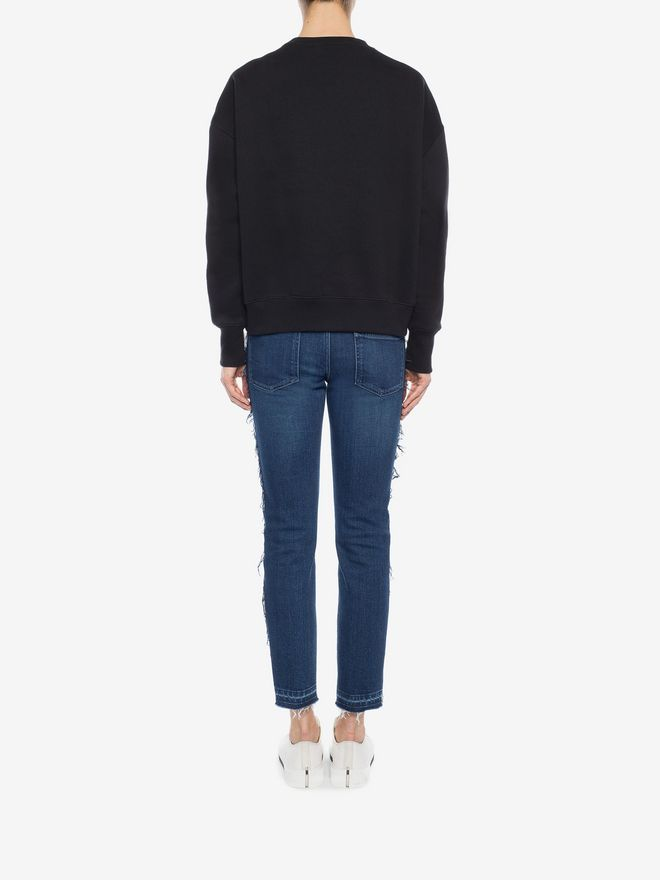 ALEXANDER MCQUEEN Embroidered Sweatshirt Sweatshirt D e