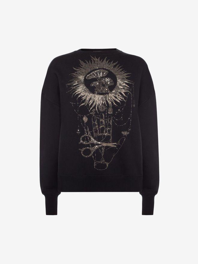 ALEXANDER MCQUEEN Embroidered Sweatshirt Sweatshirt D f