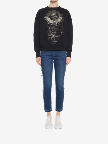 ALEXANDER MCQUEEN Embroidered Sweatshirt Sweatshirt D r