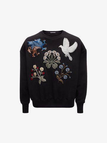 embroidered sweatshirt - Black Alexander McQueen Discount Amazon ZRVU4HcDwI