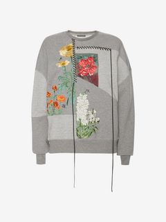 ALEXANDER MCQUEEN Sweatshirt Woman Pieced Embroidered Sweatshirt f