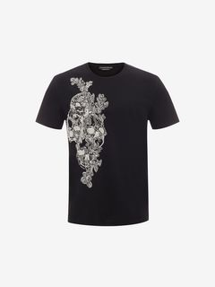 ALEXANDER MCQUEEN T-shirt Man Skull Embroidered T-Shirt f