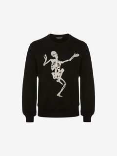 ALEXANDER MCQUEEN Sweat-shirt U Sweat-shirt avec motif « Dancing Skeleton » f
