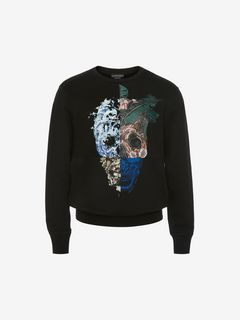 ALEXANDER MCQUEEN Sweat-shirt Homme Sweat-shirt avec motif Skull imprimé f