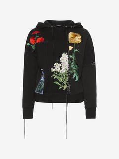 ALEXANDER MCQUEEN Sweatshirt Woman Embroidered Hooded Sweatshirt f
