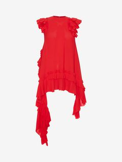 ALEXANDER MCQUEEN Top D Asymmetric Silk Top f
