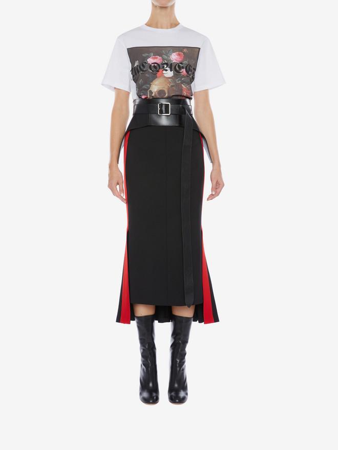 ALEXANDER MCQUEEN 스틸 라이프 티셔츠 탑 여성 r