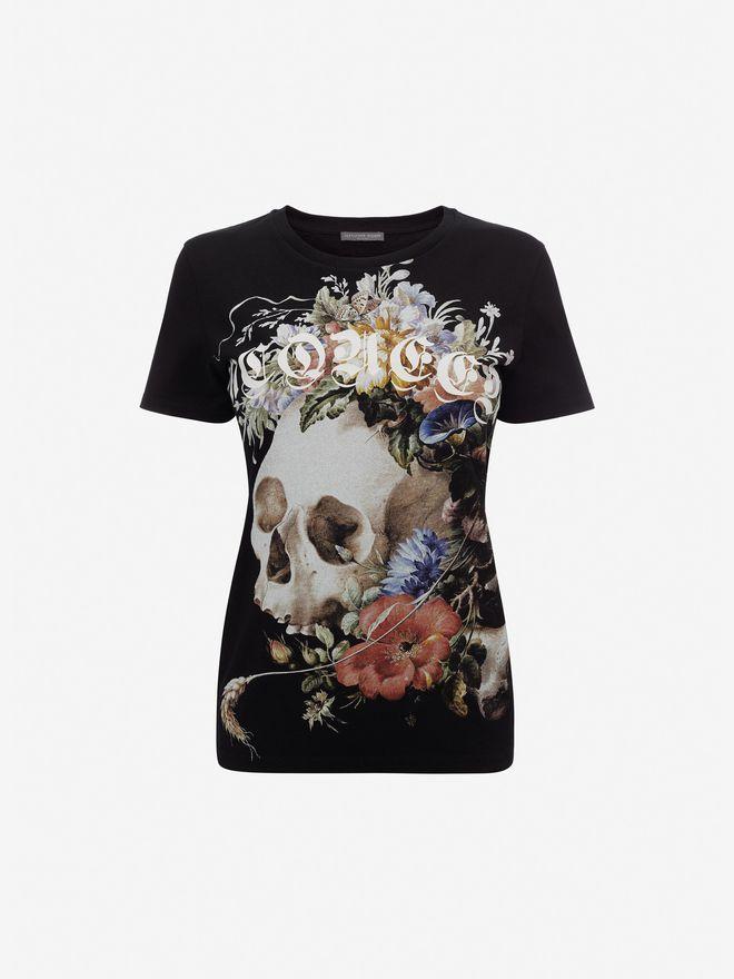 ALEXANDER MCQUEEN Dutch Masters T-Shirt Top Woman f