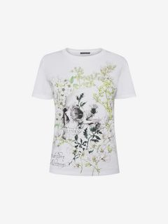 ALEXANDER MCQUEEN Top Woman White Garden Skull T-Shirt f