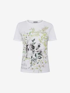 ALEXANDER MCQUEEN Top D T-shirt en coton blanc Garden Skull f