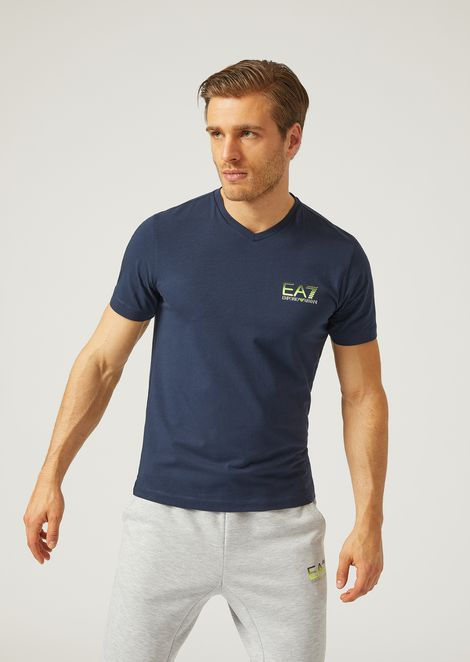 T Shirt In Stretch Jersey for Men | Emporio Armani | Tuggl