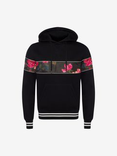 ALEXANDER MCQUEEN Sweatshirt Man Painted Rose Sweatshirt f