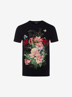 ALEXANDER MCQUEEN T-shirt Man Rose Skull T-Shirt f