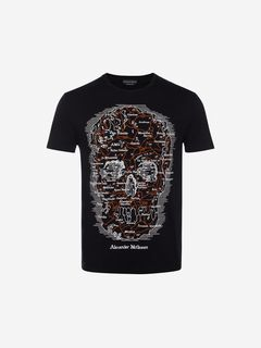 ALEXANDER MCQUEEN Tシャツ メンズ Map Skull T-Shirt f