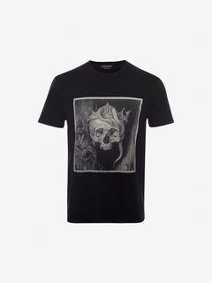 ALEXANDER MCQUEEN T-shirt Man Crowned Skull T-Shirt f