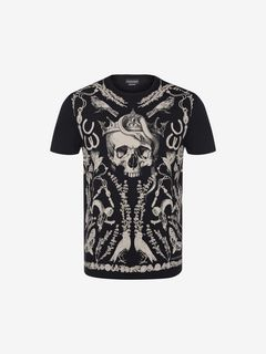 ALEXANDER MCQUEEN T-shirt Man Treasure Skull T-Shirt f