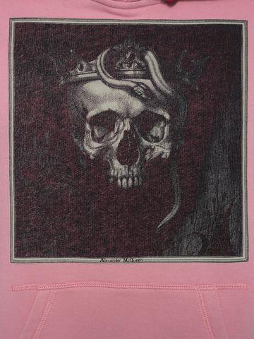ALEXANDER MCQUEEN Sweat-shirt à capuche avec motif Skull couronné Sweat-shirt Homme a