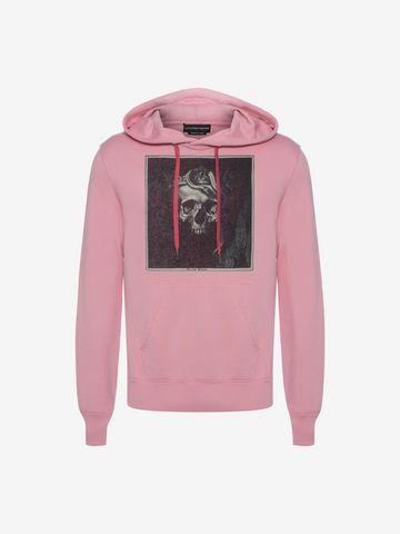 ALEXANDER MCQUEEN Sweat-shirt à capuche avec motif Skull couronné Sweat-shirt Homme f