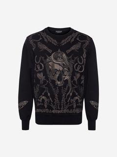 ALEXANDER MCQUEEN Sweat-shirt Homme Sweat-shirt Treasure Skull f