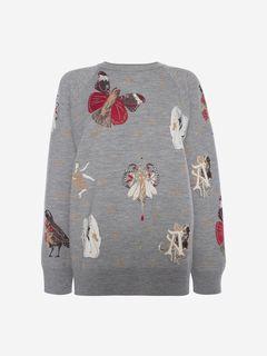 ALEXANDER MCQUEEN Sweatshirt Woman Gothic Fairytale Sweatshirt f