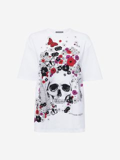 ALEXANDER MCQUEEN Top Woman Oversize Skull T-Shirt f