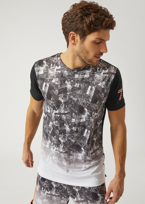 7.0 T Shirt With Faded Design for Men | Emporio Armani | Tuggl