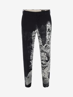 "ALEXANDER MCQUEEN Tailored Trouser U ""London Map"" Print Trousers f"