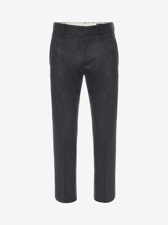ALEXANDER MCQUEEN Prince of Wales Flannel Pants Tailored Pant U f