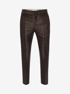 ALEXANDER MCQUEEN Tailored Trouser U Mini Paisley Trousers f