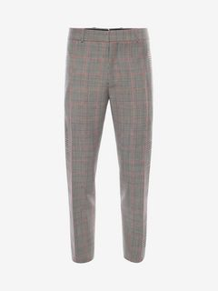 ALEXANDER MCQUEEN Tailored Trouser Man Prince of Wales Trousers f