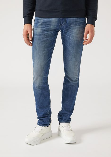 JEAN J06 COUPE SLIM EN DENIM STONE WASHED   Homme   Emporio Armani be954a140a3