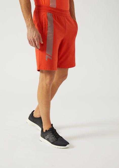 Shorts In Pure Cotton With Logo for Men | Emporio Armani | Tuggl