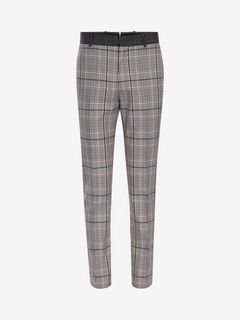 ALEXANDER MCQUEEN Tailored Pant Man Prince of Wales Pants f