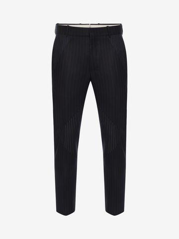 ALEXANDER MCQUEEN Pinstripe Patchwork Pants Tailored Pant Man f