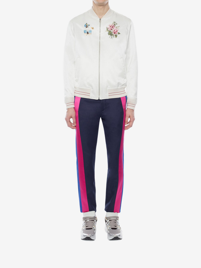 ALEXANDER MCQUEEN Multicolor Side Band Pants Tailored Pant Man r