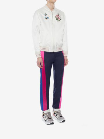 ALEXANDER MCQUEEN Multicolor Side Band Pants Tailored Pant Man d