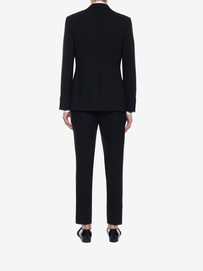 ALEXANDER MCQUEEN Rose Embroidered Tuxedo Pants Tailored Pant Man e