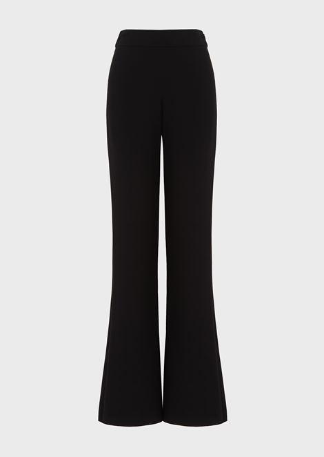 04167f1950 Mulberry Silk Palazzo Trousers for Women | Giorgio Armani